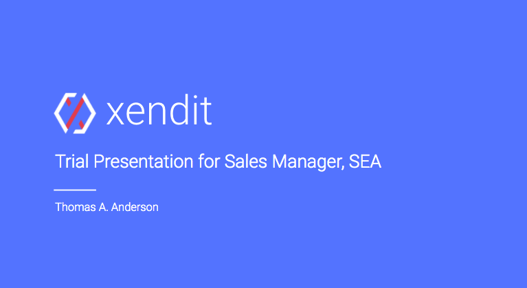 trial presentation template at xendit